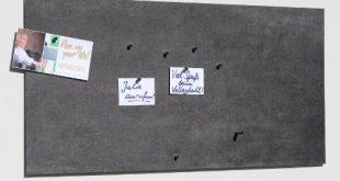 Vinyl-Magnet-Pinnwand mit Stein- / Schiefer-Optik, Memoboard, Magnettafel, magnetisch; inkl. 10 Haft-Magnete