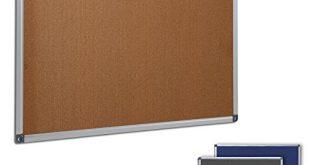 Profi Pinnwand fuer Buero Schule Kueche etc Memoboard in 310x165 - Profi Pinnwand für Büro, Schule, Küche etc. | Memoboard in vielen Größen | moderner Aluminiumrahmen | Oberfläche wählbar | Kork 90x60 cm