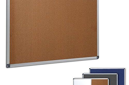 Profi Pinnwand fuer Buero Schule Kueche etc Memoboard in 500x330 - Profi Pinnwand für Büro, Schule, Küche etc. | Memoboard in vielen Größen | moderner Aluminiumrahmen | Oberfläche wählbar | Kork 90x60 cm