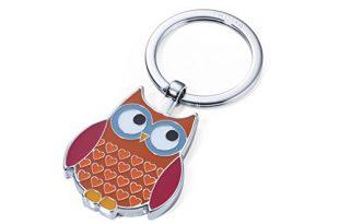 TROIKA Rosy - KR14-13/BR - Schlüsselanhänger - Trend: Eule - Owl - verchromt - glänzend - braun - das ORIGINAL